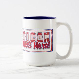 compre al americano 2 taza de dos tonos