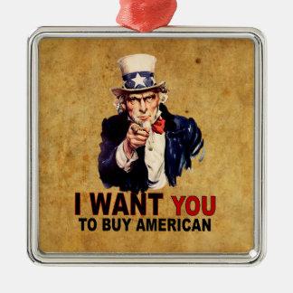 Compre al americano adorno navideño cuadrado de metal