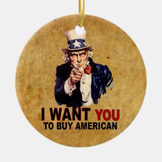 Compre al americano adorno navideño redondo de cerámica