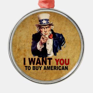 Compre al americano adorno navideño redondo de metal