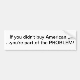 Compre al americano etiqueta de parachoque