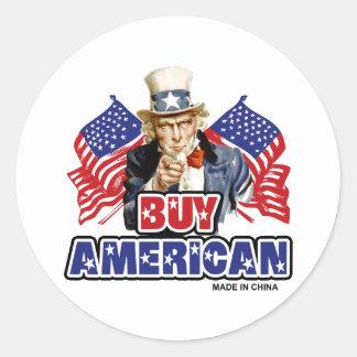 Compre al americano (hecho en China) Etiquetas Redondas