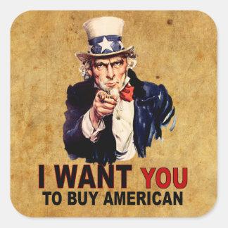 Compre al americano colcomanias cuadradas