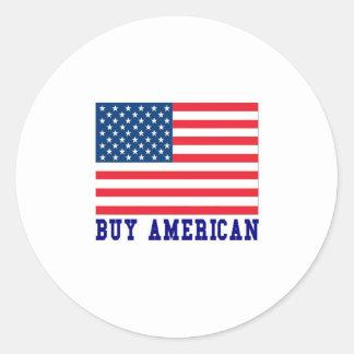 Compre al americano pegatinas redondas