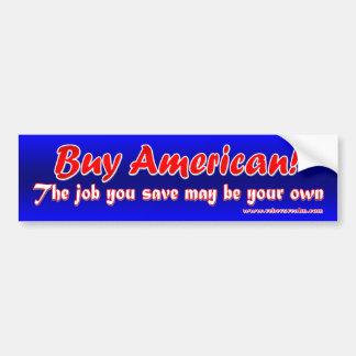 ¡Compre al americano Pegatina De Parachoque