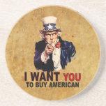 Compre al americano posavasos personalizados