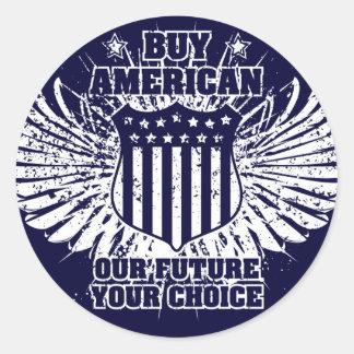 Compre al pegatina del americano II