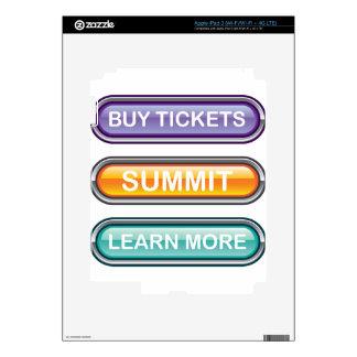 Compre boletos que la cumbre aprende más botones iPad 3 skin