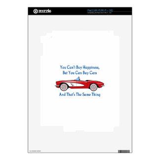 Compre coches, compre la felicidad calcomanías para iPad 2