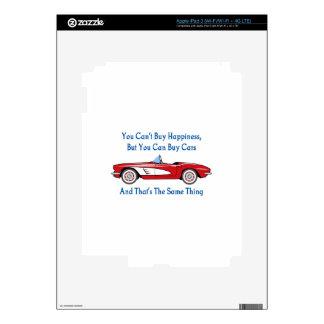 Compre coches, compre la felicidad pegatinas skins para iPad 3