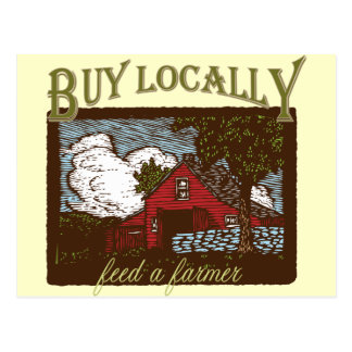 Compre el Local, alimente a un granjero Postal