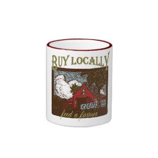 Compre el Local, alimente a un granjero Tazas De Café
