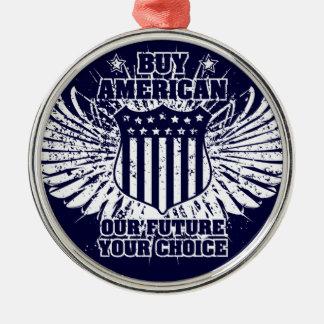 Compre el ornamento del americano II Adorno Navideño Redondo De Metal
