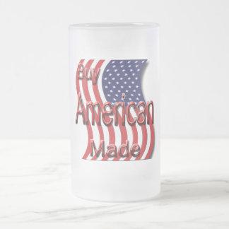 Compre el rojo hecho americano taza cristal mate
