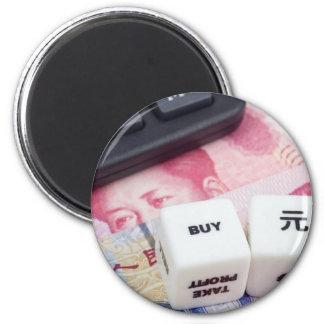 Compre el yuan chino imán redondo 5 cm