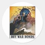¡Compre enlaces de guerra! Pegatinas Redondas
