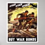 Compre enlaces de guerra -- Propaganda WW2 Póster