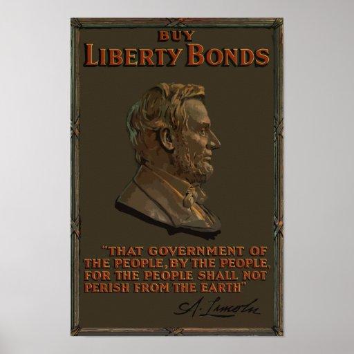 Compre enlaces de la libertad -- Abraham Lincoln Impresiones