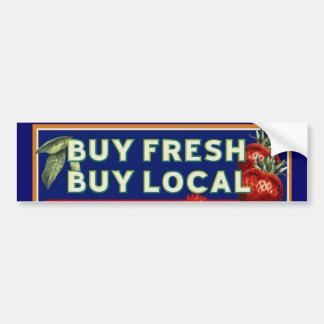 Compre fresco, compre el Local Pegatina Para Auto