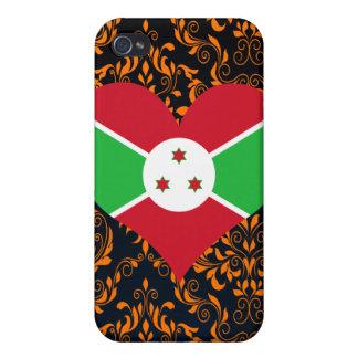 Compre la bandera de Burundi iPhone 4 Fundas