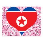Compre la bandera de Corea del Norte Postales