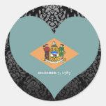 Compre la bandera de Delaware Pegatinas Redondas