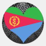 Compre la bandera de Eritrea Pegatina Redonda