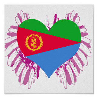 Compre la bandera de Eritrea Póster