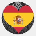 Compre la bandera de España Pegatina Redonda