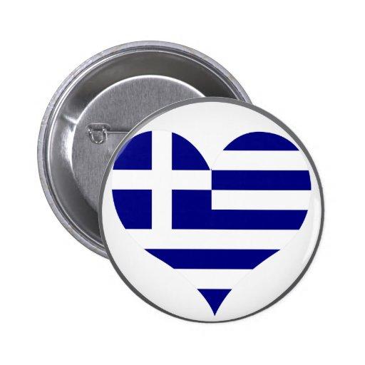 Compre la bandera de Grecia Pin Redondo De 2 Pulgadas
