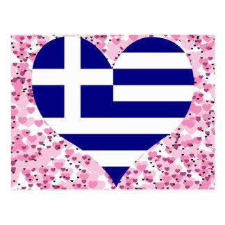 Compre la bandera de Grecia Tarjeta Postal