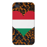 Compre la bandera de Hungría iPhone 4 Carcasas