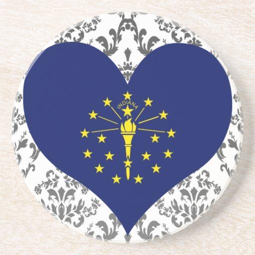 Compre la bandera de Indiana Posavasos De Arenisca