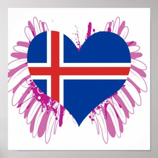 Compre la bandera de Islandia Impresiones