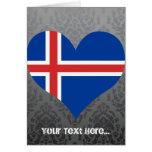 Compre la bandera de Islandia Tarjeta