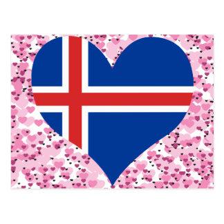 Compre la bandera de Islandia Tarjetas Postales
