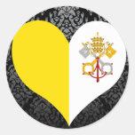 Compre la bandera de la Ciudad del Vaticano Pegatina Redonda