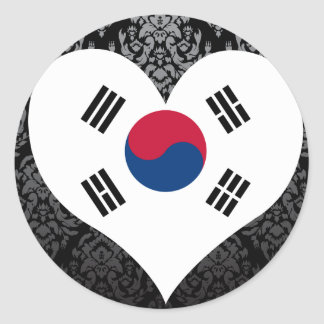 Compre la bandera de la Corea del Sur Pegatina Redonda