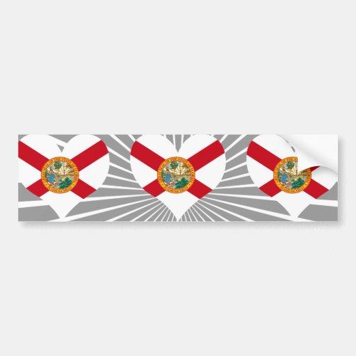 Compre la bandera de la Florida Etiqueta De Parachoque