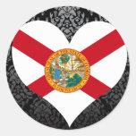 Compre la bandera de la Florida Pegatinas Redondas