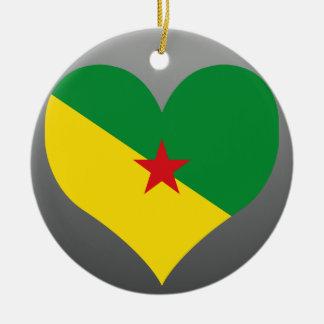 Compre la bandera de la Guayana Francesa Adorno Redondo De Cerámica