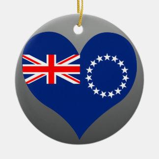 Compre la bandera de las islas de cocinero ornamento para arbol de navidad