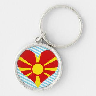Compre la bandera de Macedonia Llaveros