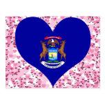 Compre la bandera de Michigan Tarjeta Postal