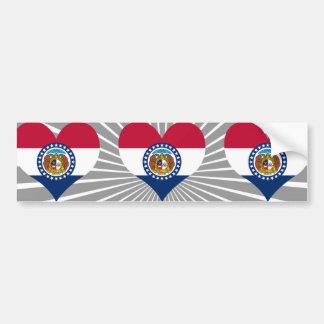 Compre la bandera de Missouri Etiqueta De Parachoque