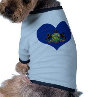 Compre la bandera de Pennsylvania Camisa De Mascota