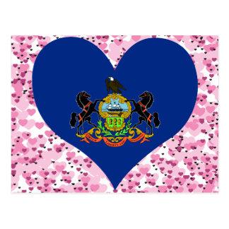 Compre la bandera de Pennsylvania Tarjeta Postal
