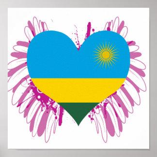Compre la bandera de Rwanda Poster