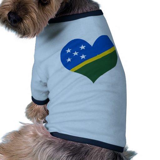 Compre la bandera de Solomon Island Camisetas De Perrito