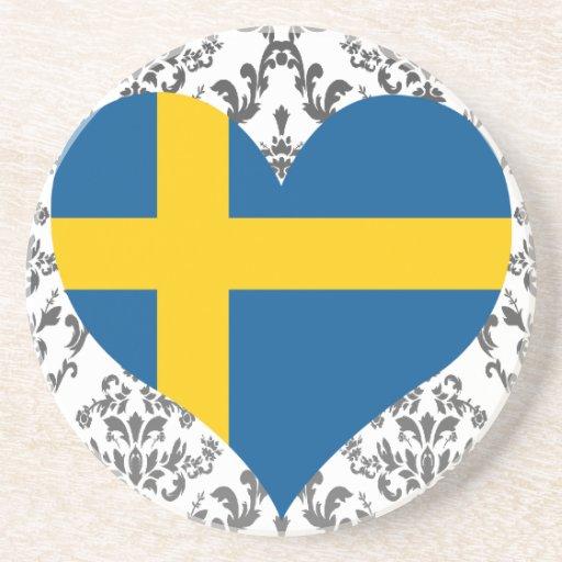 Compre la bandera de Suecia Posavasos Cerveza